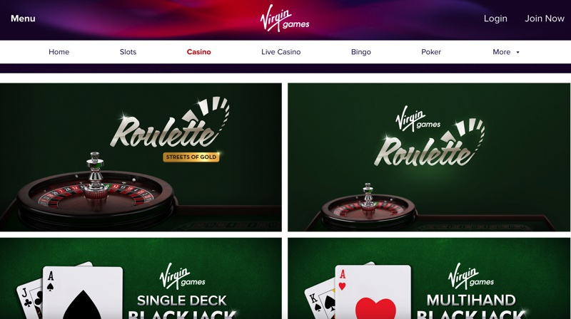 Virgin Games Casino Screenshot